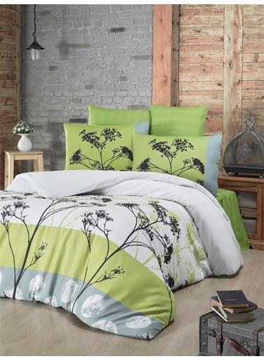 Komfort Home Çift Kişilik Polycotton Nevresim Takımı (Belezza Yeşil) Yeşil